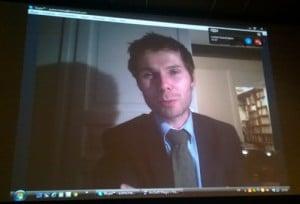 Lionel Baier, prix du Jury 2015, joint à Lausanne par la magie de l'Internet