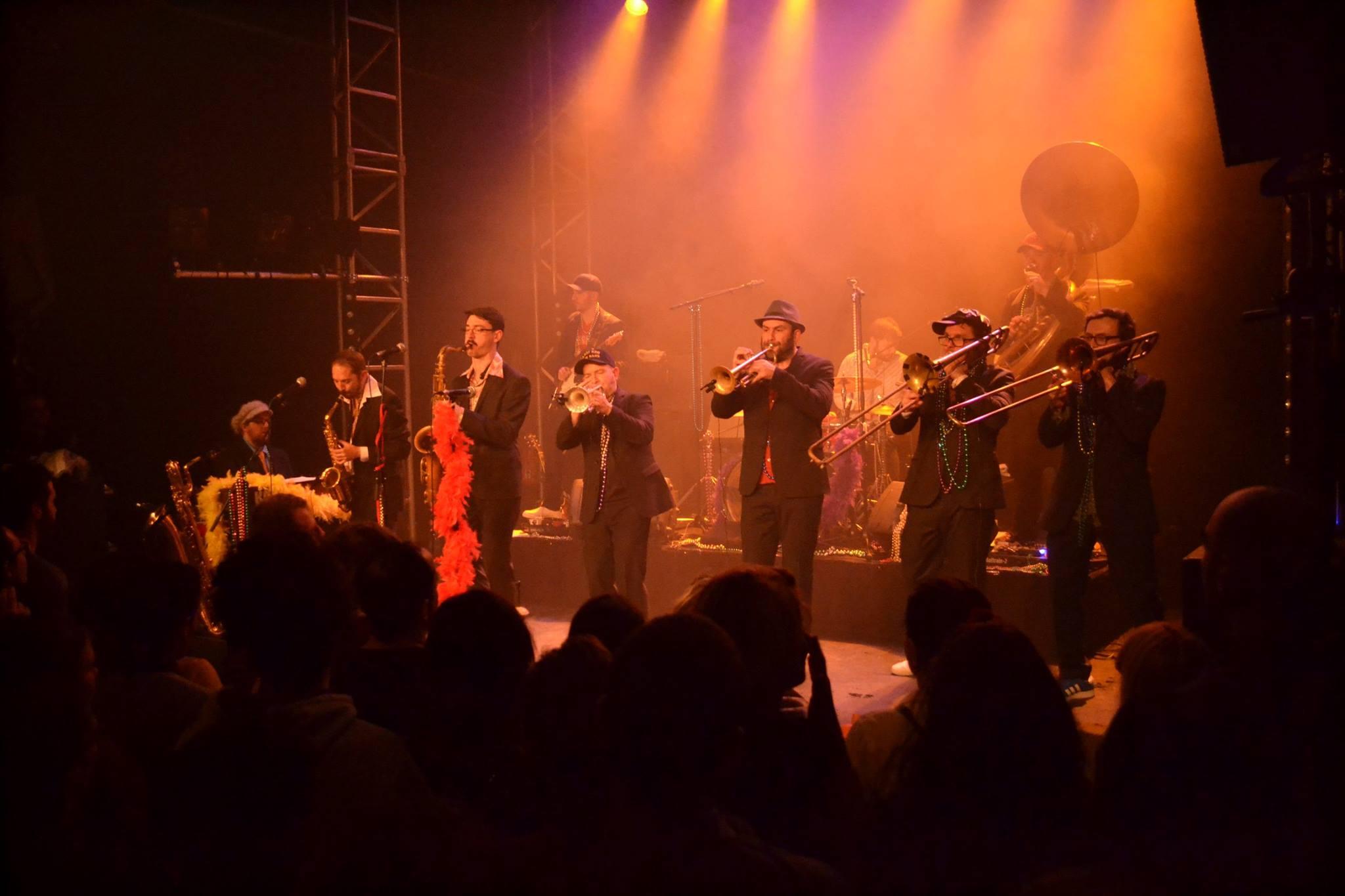 Le Mardi Gro Brass Band au cuvage de Jasseron