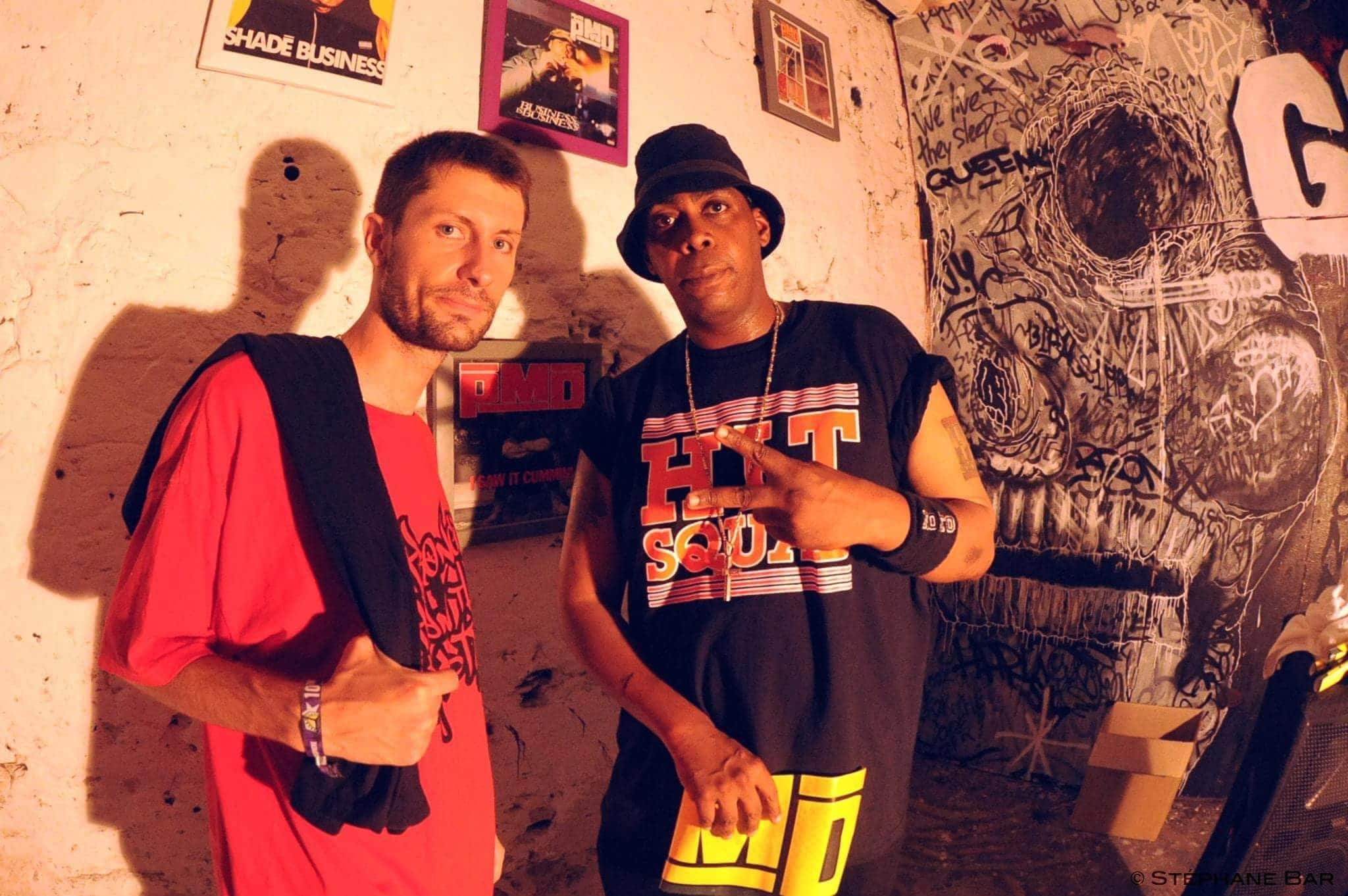 Nick UDGS avec Parish Smith (EPMD) - Photo Stéphane Bar